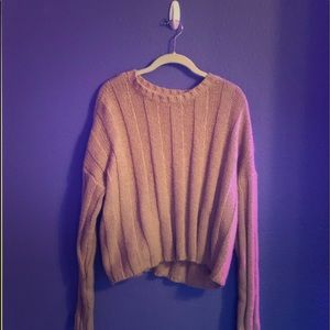 Pacsun pink cropped sweater
